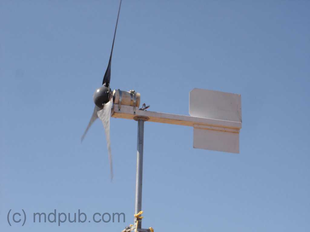 The New Nose Cone Installed On Wind Turbine