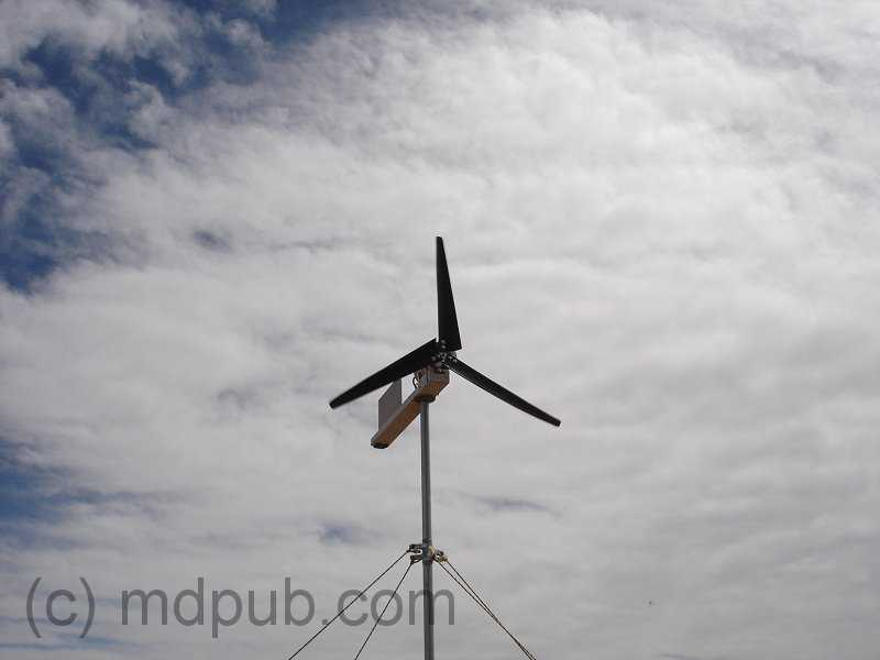 The Repaired Wind Turbine Up And Running Again