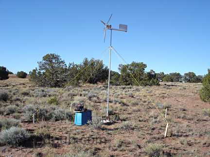 The fully assembled wind turbine