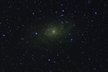 A photo of the galaxy M33 from my Arizona property.