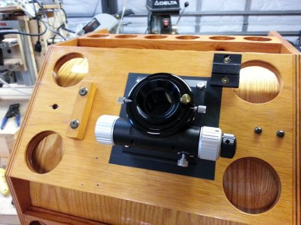 The new two inch focuser installed on the secondary cage.