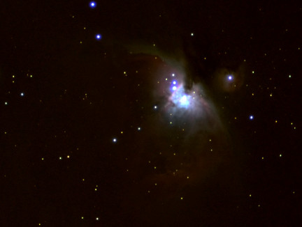 A view of the Orion Nebula.