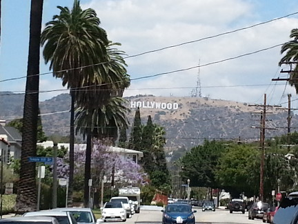The iconic Hollywood Sign.