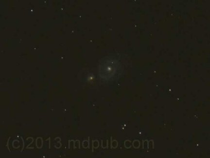 A photo of M51.