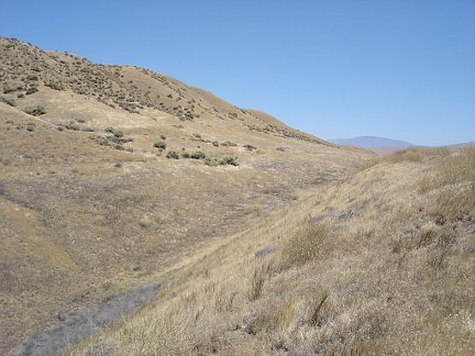 Standing on the San Andreas Fault.
