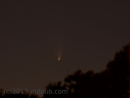 A photo of comet PanSTARRS.
