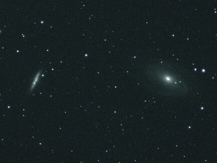 A photo of galaxies M81 and M82.