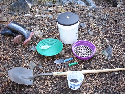 Equipment needed for gold panning