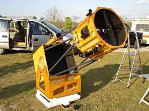 A 17.5in. f/4.5 Dobsonian telescope