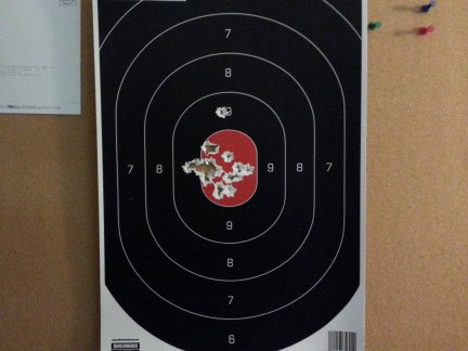 21 rounds through the target from my 9mm Springfield XDS.