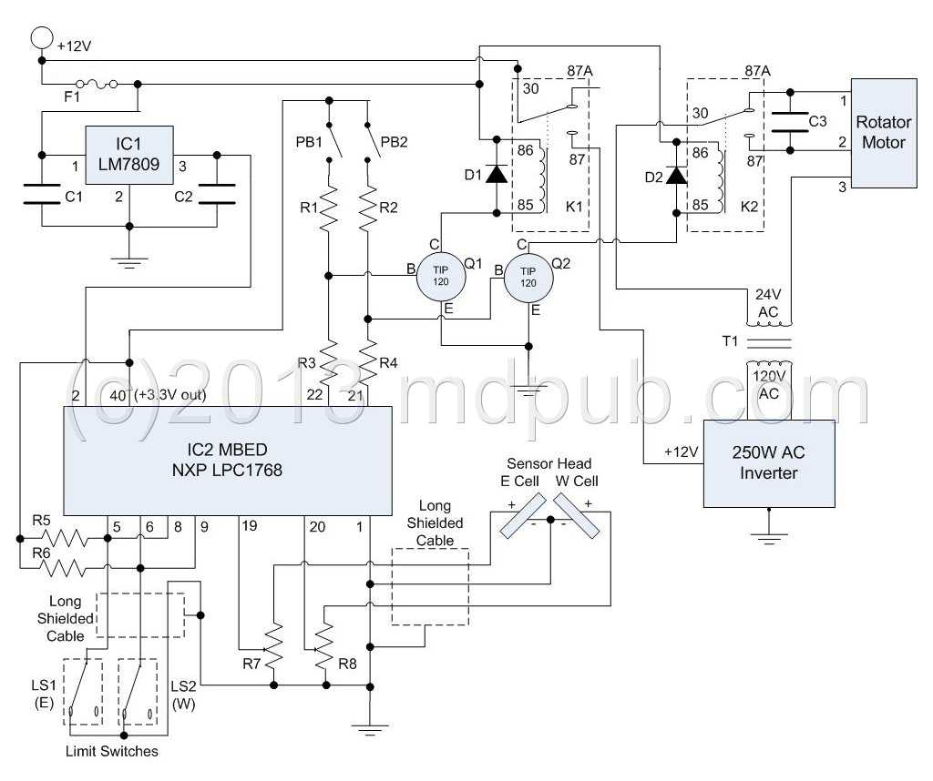 Mig Welder Control Circuit Diagram Welding How I Built A Sun Tracker For My Solar Panels